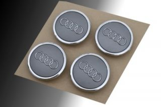 Audi RS4 A3 A4 A6 A8 S4 S6 Chrome Wheel Center Cap New