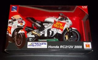 Honda Gresini 1 12 Die Cast Model RC212V Motorcycle Toy