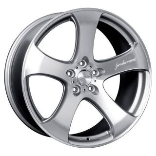 MRR Wheels Rims Set HR2 Silver Machined Face 5x112 19x8 5 35 Offset