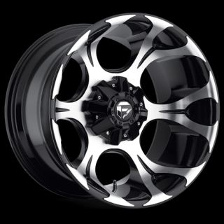 Fuel Dune Black Machined 6x5 5 w 1 Et D52420908350 Wheels Rims
