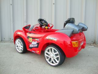 Sporty Red 6V Battery Powered Kids Ride on Electric Toys Car Sports