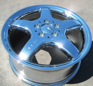 17 Mercedes SLK320 SLK230 CLK430 AMG Chrome Wheel Rim 1 Single