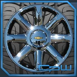 20 inch Chrome Wheel and Tire Package for Chevrolet Tahoe Silverado