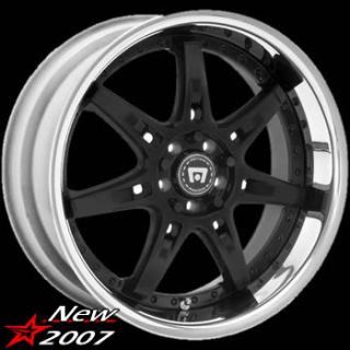 18x8 Black Wheels Rims Motegi SP7 4x100 4x4 5 Honda Civic Nissan