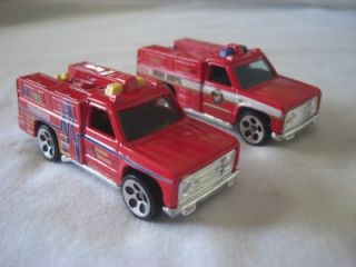 12 Hot Wheels Cars Trucks Emergency Vehicles Carry Case