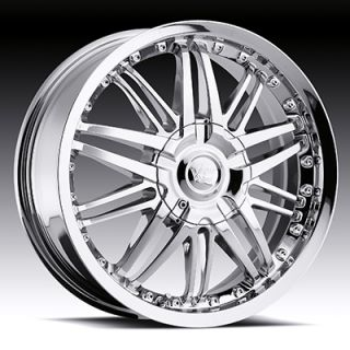 x7 VISION AVENGER CHROME 5X100/5X4.5 W/ 38 ET (3817718C38) WHEELS RIMS