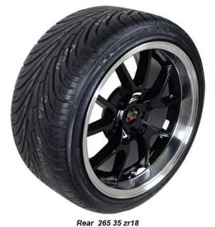 10 Black FR500 Wheels Nexen Tires Rims Fit Mustang® 94 04