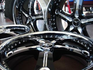 22 Mercedes Custom 3pc Wheels Tires s CL CLS 550 63 65
