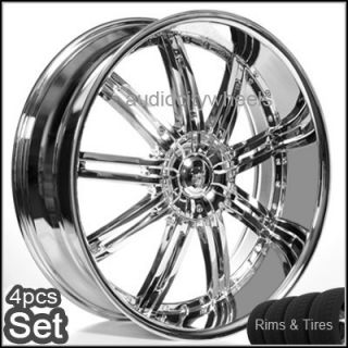 24inch Wheels and Tires Rims Chevy Ford Cadillac RAM