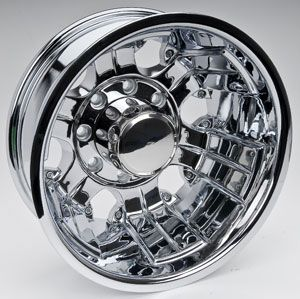 Detroit Wheels 175 6681FP Blem 175 Polished Dually Front Wheel