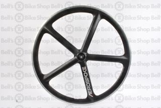 Aerospoke Track Front Wheel Black Carbon Machined 700c