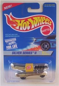 Oscar Meyer Wienermobile Hot Wheels 423 Silver Series Hot Dog Car Toy
