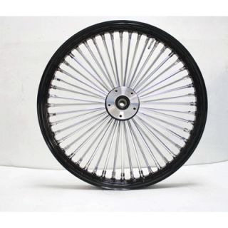 Ultima King Spoke Black Chrome Front Dual Disc Wheel 21x2 15 for 86 99