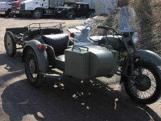 WWII Military Motorcycle Cargo Trailer Ural Dnepr BMW