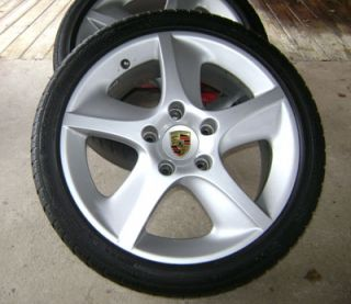 Used OEM 18 Porsche Sport Techno 996 C4S Turbo wheels with 4 used