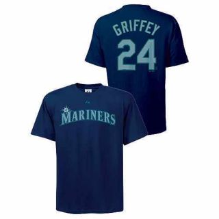 MLB Baseball Name&Number T Shirt SEATTLE MARINERS Griffey Jr. #24 in L