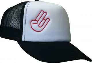 Trucker Cap Stick Shocker Hand schwarz VW Tuning AUDI BMW Kult Mesh