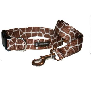 Lola & Foxy Nylon Dog Collars   Giraffe   Brown