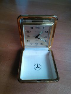 DELUXE 2 Jewels Alarm Clock Uhr Wecker mit with MERCEDES Logo Made in