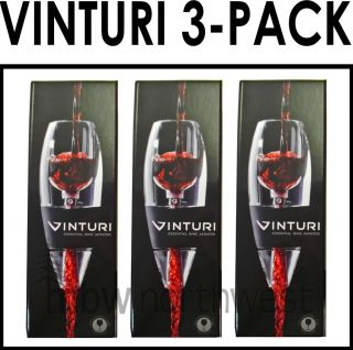 VINTURI RED WINE AERATOR     3 PACK   FAST PRIORITY SHIPPING   GREAT