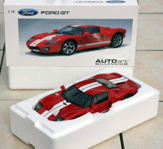 18 2004 Ford GT Red 73021 AutoArt Milennium Brand New In Mint Box