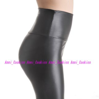 Fashion New Womens Shiny Wet faux Leather High Waist Legging 4 color