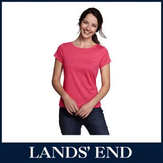 LANDS END Damen Pima T Shirt Shirt kurzarm *Sale*