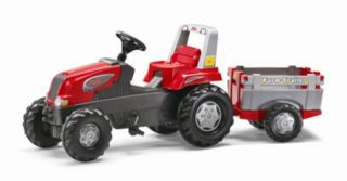 Rolly Toys Traktor Junior RT rot + Farm Trailer 800261