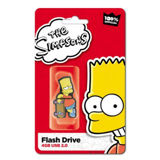 Bart Simpson 4GB Rubber USB Flash Drive by Integral.