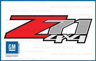 Chevy Silverado Z71 4x4 decals stickers   F (2007 2012