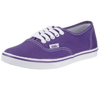 Vans Authentic Lo Pro Skate Shoe Size 8 Purple/White Shoes