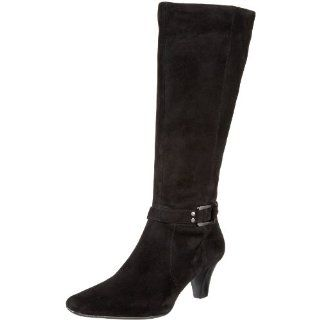 AK Anne Klein Womens Grenti Knee High Boot,Black Suede,9 M US Shoes