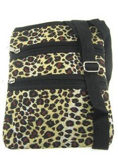 Small Hipster Cross Body Bag Purse Leopard Print Print Shoes