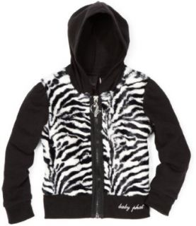 Baby Phat   Kids Girls 7 16 Zebra Faux Fur Hoodie Sweater