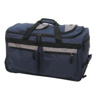 Olympia 29 8 Pocket Rolling Duffel Bag, Navy, One Size