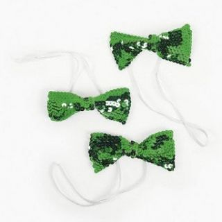Green Sparkling Bow Ties   St. Patricks Day & Costume