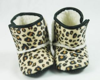 com Animal Print Baby Crib Boots (9 12 months, Brown Leopard) Shoes