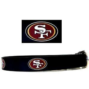 NFL FOOTBALL Leather Belt   San Francisco 49ers Size 40