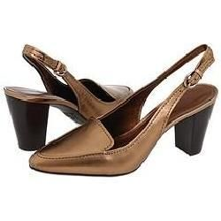 AK Anne Klein Meesha Bronze Leather Pumps/Heels