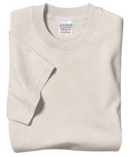 Gildan Heavyweight 100% Cotton T Shirt   Natural Color
