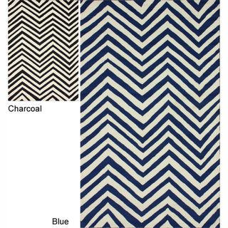 Handmade Chevron Indoor/ Outdoor Rug