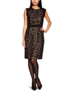 Adrianna Papell Womens Lace Blocked Dress Clothing