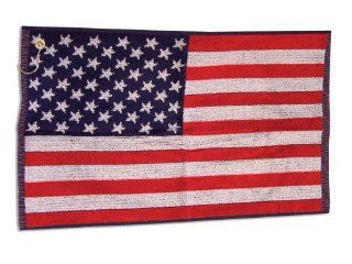 American Flag Stars And Stripes Jacquard Golf Towel 16 x