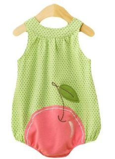 First Boutique® Baby Girls Cherry Sun Dress, Green/White