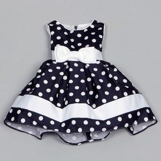 Dorissa Infant Girls Dotty Polka Dot Dress