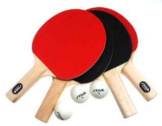Stiga Classic 4 Player Table Tennis Racket Set Sports