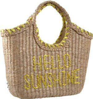 Kate Spade Hello Sunshine Willow Tote,Natural/Yellow,one size Shoes