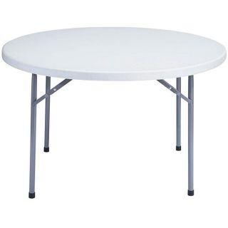 NPS Resin 48 inch Grey Round Folding Table