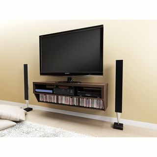 Series 9 Designer Collection Espresso 58 inch Wide Wall Mounted AV