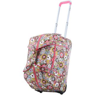 Olympia 21 Inch Tulip Fashion Rolling Carry OnUpright Duffel Bag